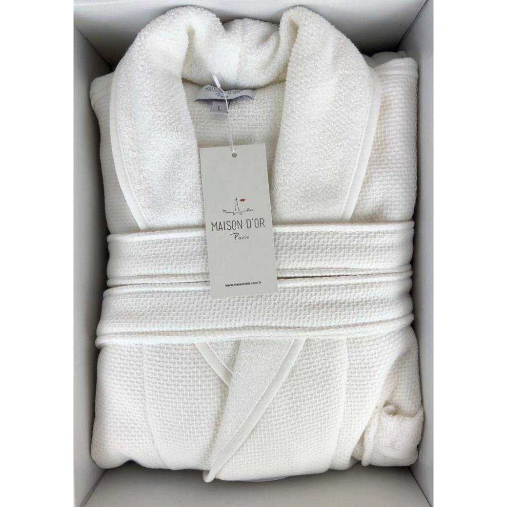 Quattro белый мужской халат Maison D'or