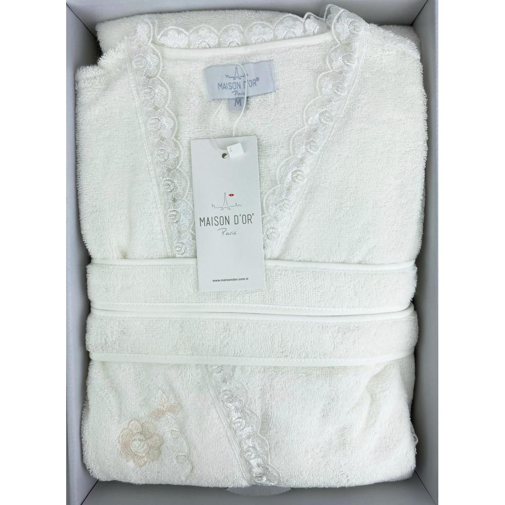 Celyn Long ванильный женский халат Maison D'or